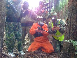 A paintball game of medic on the large single bush field at Ballan.