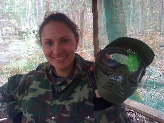 A set of paintball goggles once again do their job!
